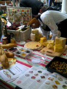 Cheese stall at Balham food fest