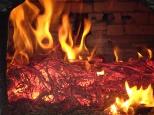 My burnt orange bread fire