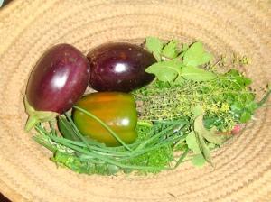 Freshly picked organic loot!