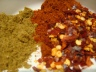 Spices - cumin, smoked paprika, chilli flakes