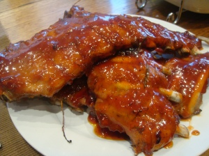 Rooibos syrup spareribs
