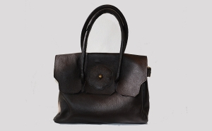 Flap Danaqa Logo Leather bag by Bet M. Alem