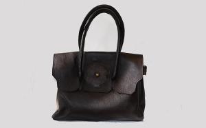 Flap Danaqa Logo Leather bag by Bet M. Alem