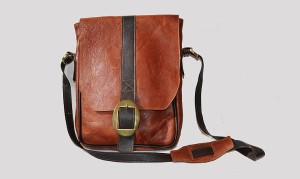 Suede lined Danaqa satchel by Betty M. Alem