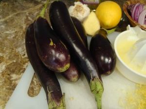 Baby aubergines
