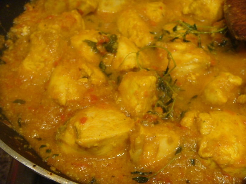 Chicken Curry with thyme