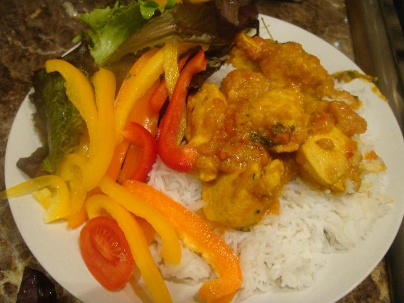 Chicken curry thyme & rice © myburntorange