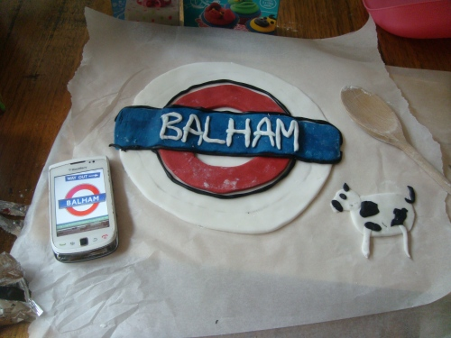 Balham cake in the making