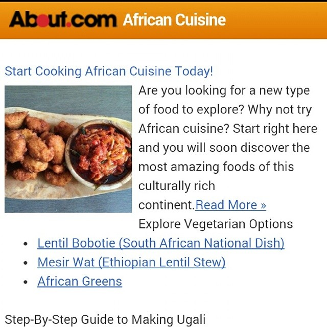 About african cuisine